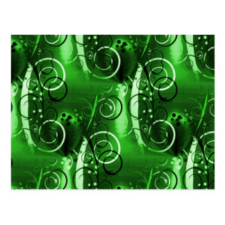 Abstract Floral Swirl Vines Green Girly Gifts Post Card