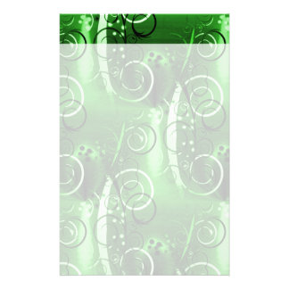Abstract Floral Swirl Vines Green Girly Gifts Stationery Paper