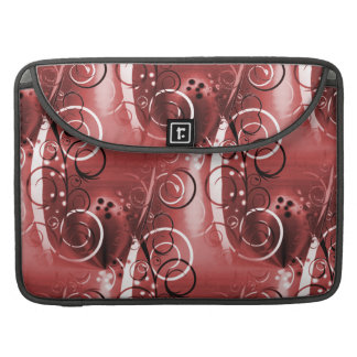 Abstract Floral Swirl Vines Maroon Red Girly Gifts MacBook Pro Sleeve