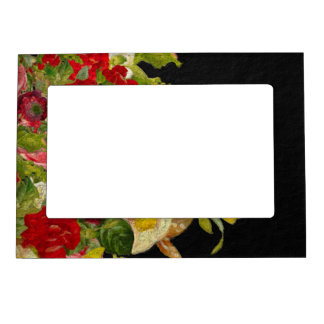 Abstract Floral Textured Magnetic Photo Frame