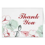 Abstract Floral Thank You Card