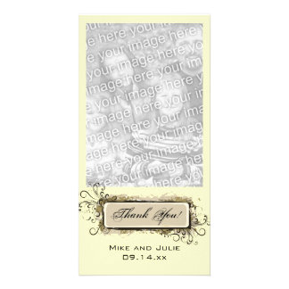 Abstract Floral Thank You Photo Card