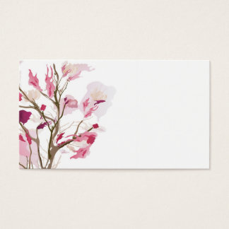 Abstract floral tree Business Card