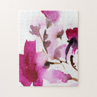 Abstract floral watercolor paintings 4 jigsaw puzzle