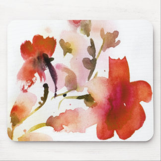 Abstract floral watercolor paintings mouse pad