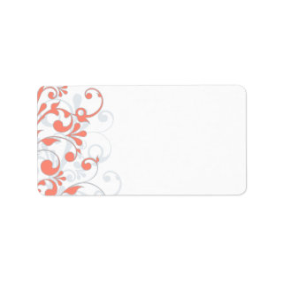 Abstract Floral Wedding Blank Address Label