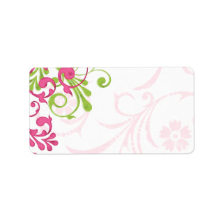 Abstract Floral Wedding Blank Address Mailing Address Label