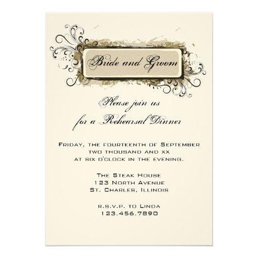 "... Wedding Rehearsal Dinner Invite 5"" X 7"" Invitation Card | Zazzle"