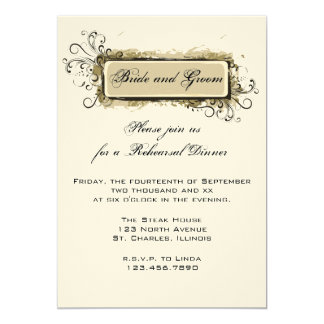Abstract Floral Wedding Rehearsal Dinner Invite