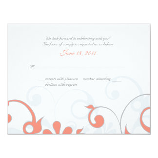 Abstract Floral Wedding Response Card