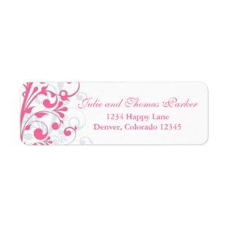 Abstract Floral Wedding Return Address Label label