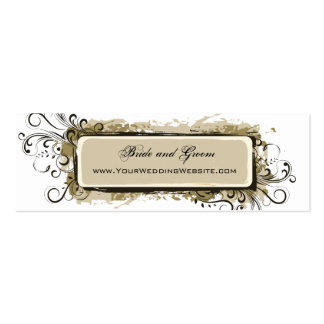 Abstract Floral Wedding Website Business Card Templates