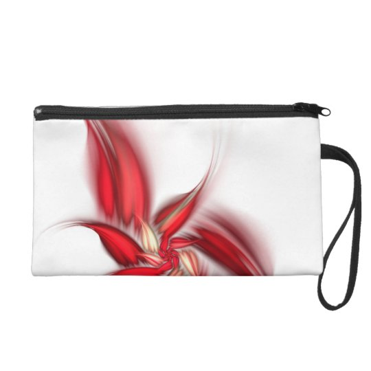 Abstract Floral Wristlet