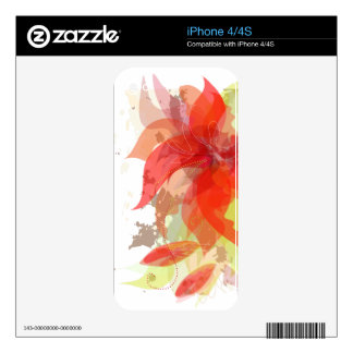 Abstract  Floral Zazzle Skin iPhone 4S Skins