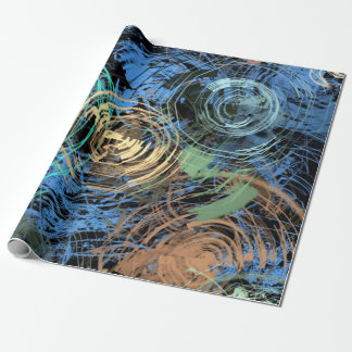 Abstract Florals Photo Gloss Wrapping Paper