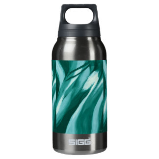 Abstract Flow - Aqua Insulated Water Bottle