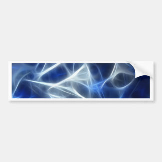 Abstract flow of white and blue streaks bumper sticker