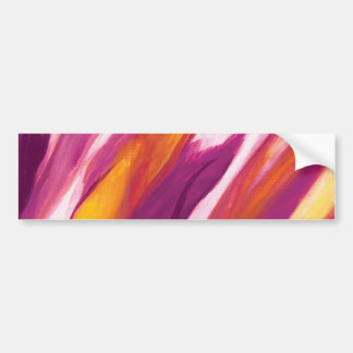 Abstract Flow - Purple Yellow Bumper Sticker