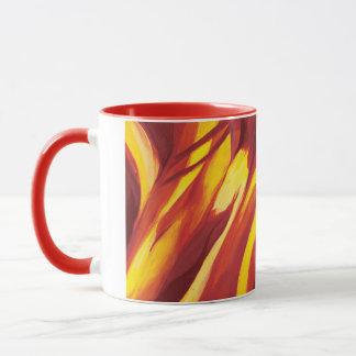 Abstract Flow - Red Yellow Mug