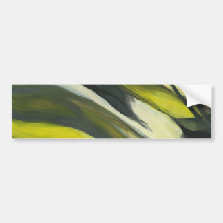 Abstract Flow - Yellow Grey Bumper Sticker