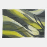 Abstract Flow - Yellow Grey Hand Towel