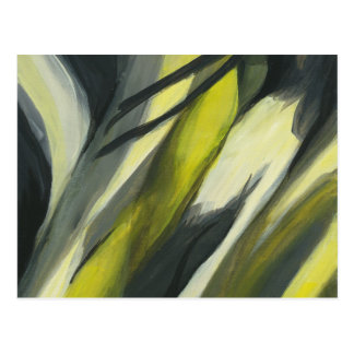Abstract Flow - Yellow Grey Postcard