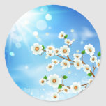 Abstract flower 1 classic round sticker