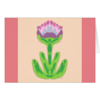 Abstract Flower 2 Card