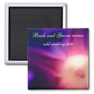 Abstract Flower 2 Inch Square Magnet