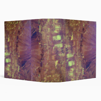 ABSTRACT FLOWER 3 RING BINDER