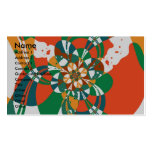 Abstract Flower #7 Business Card Templates