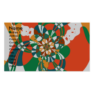 Abstract Flower #7 Double-Sided Standard Business Cards (Pack Of 100)
