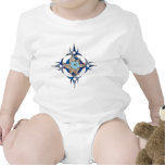 abstract flower baby bodysuits