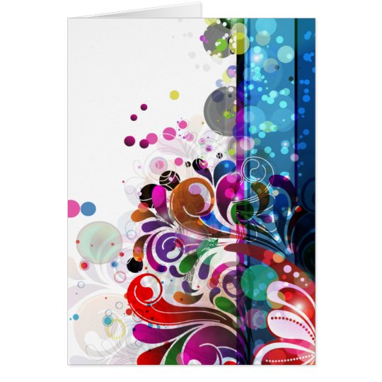 abstract flower background card