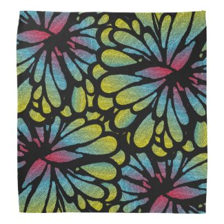 Abstract Flower Bandana