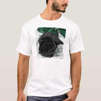 Abstract Flower Black Rose T-Shirt