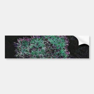 Abstract Flower Car Bumper Sticker