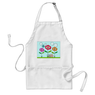abstract flower, butterfly and snail adult apron