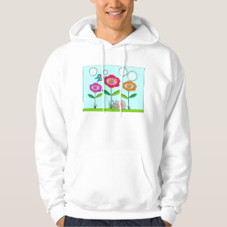 abstract flower, butterfly and snail hoodie