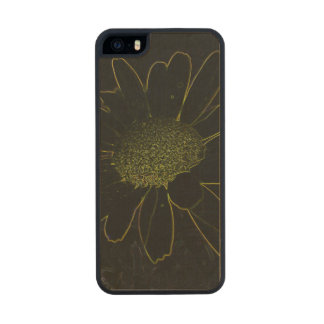 Abstract Flower Carved® Maple iPhone 5 Case