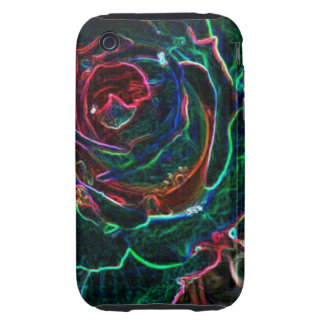 Abstract Flower Tough iPhone 3 Case