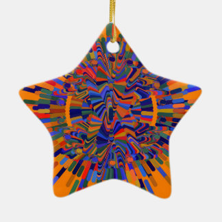 Abstract Flower Ceramic Ornament
