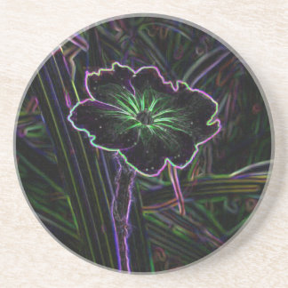 Abstract Flower Beverage Coaster