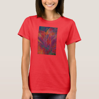 Abstract Flower Collage Shirt