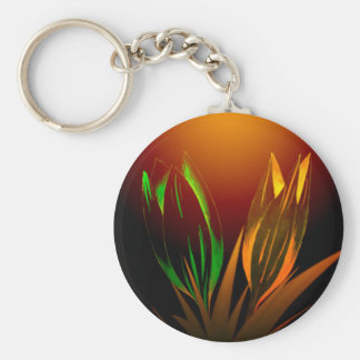 Abstract Flower Colours Of The Tulip Keychain