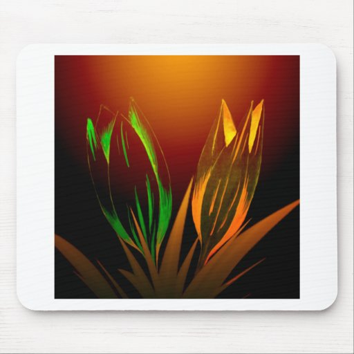 Abstract Flower Colours Of The Tulip Mouse Pad