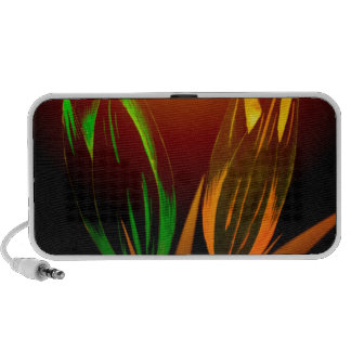 Abstract Flower Colours Of The Tulip Notebook Speakers