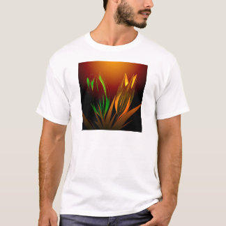 Abstract Flower Colours Of The Tulip T-Shirt