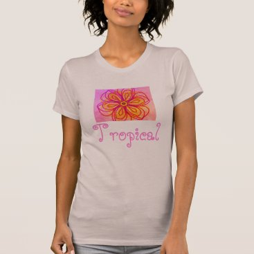 Beach Themed Abstract Flower Cool Ladies Tropical Shirt