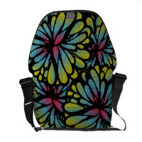 Abstract Flower Courier Bags